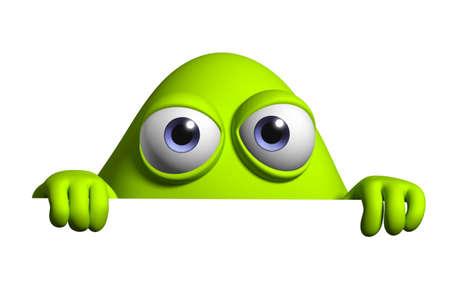 alien symbol: 3d cartoon cute germ