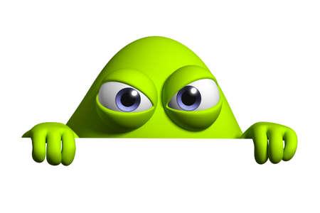 3d cartoon cute bucterium photo