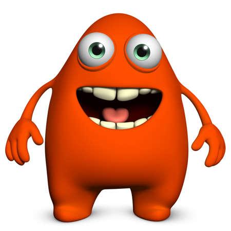 3d cartoon cute monster Stock Photo - 15810539