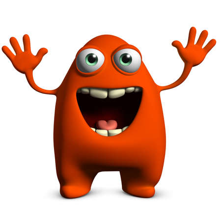 3d cartoon cute monster Stock Photo - 15810503