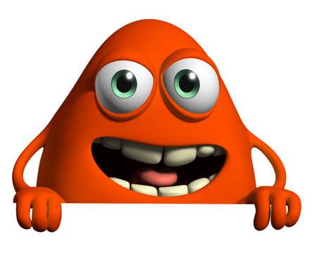 alien cartoon: 3d cartoon cute monster