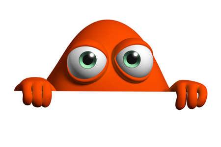 3d cartoon cute monster Stock Photo - 15810459