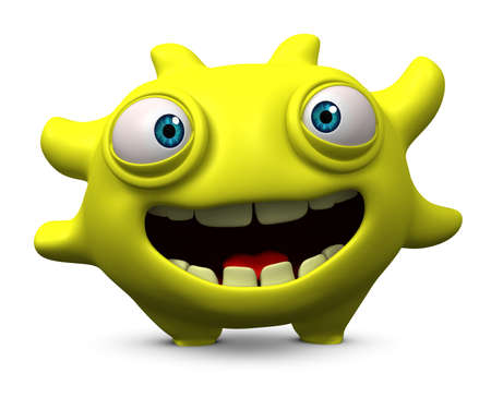 filth: 3d cartoon cute monster