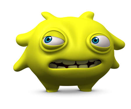 3d cartoon cute monster Stock Photo - 15810519