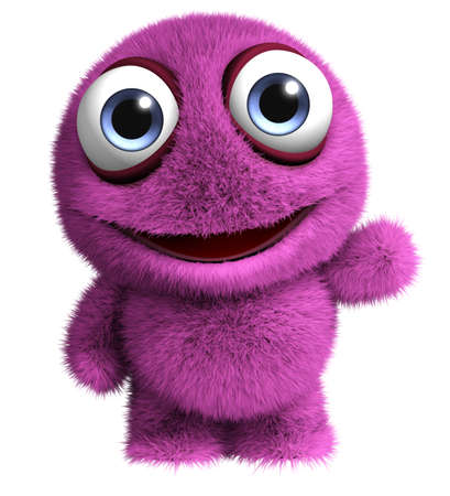 3d cartoon cute virus Standard-Bild