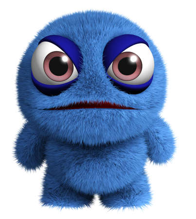 3d cartoon cute virus Stock Photo - 15828160