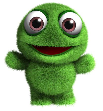 3d dibujos animados monstruo peludo juguete Foto de archivo - 15841027