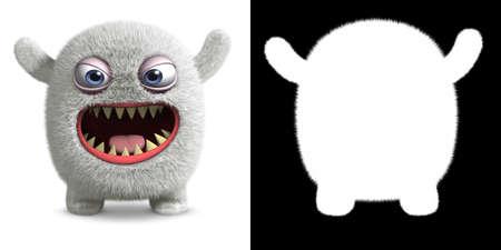 3d cartoon furry monster Stock Photo - 16005026