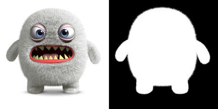 abominable: 3d cartoon furry monster