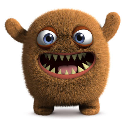 abominable: 3d cartoon bug