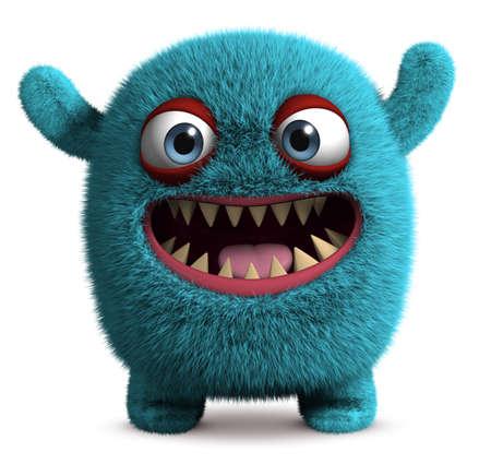 monstre poilu mignon