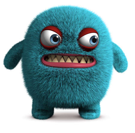 funny creature: cute furry monster