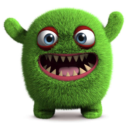 3d cartoon furry monster