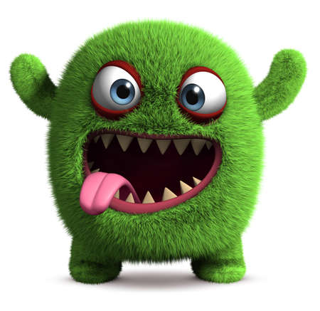3d cartoon cute monster