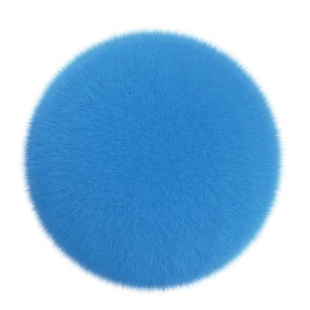 fluff: 3d cartoon cute furry ball