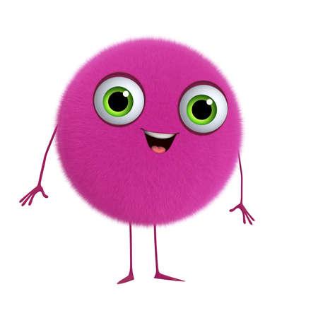 3d cartoon cute pink ball photo