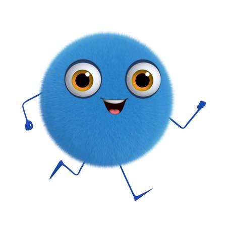 fuzz: 3d cartoon cute blue ball