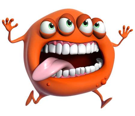 freak: 3d cartoon monster