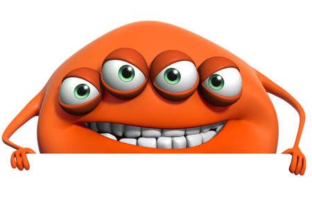 3d cartoon monster photo
