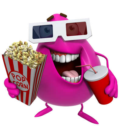 monster teeth: 3d cartoon cute monster