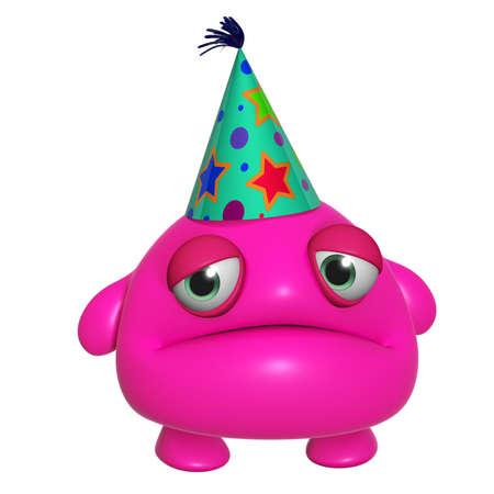 mutant: 3d cartoon cute holiday pink monster