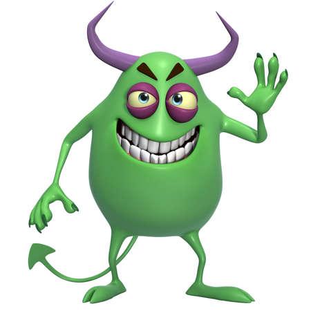abominable: 3d cartoon halloween monster