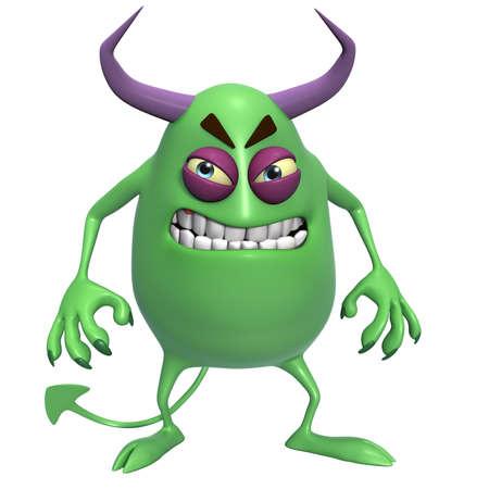 3d scary: 3d cartoon horror monster Stock Photo