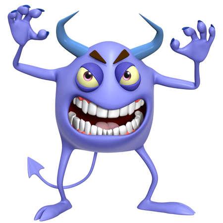 amuse: 3d cartoon hallowen monster Stock Photo