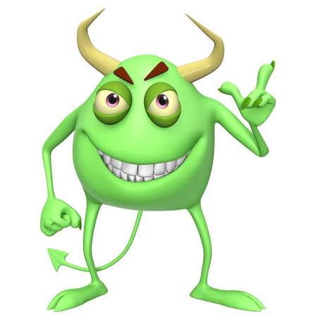 abominable: 3d cartoon demon
