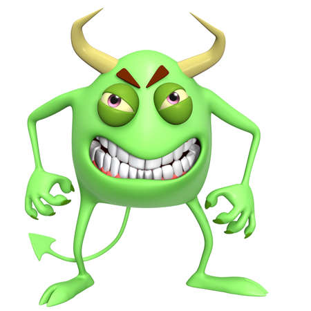inferno: 3d cartoon devil Stock Photo