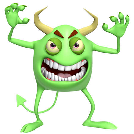 hallowen: 3d cartoon hallowen monster Stock Photo