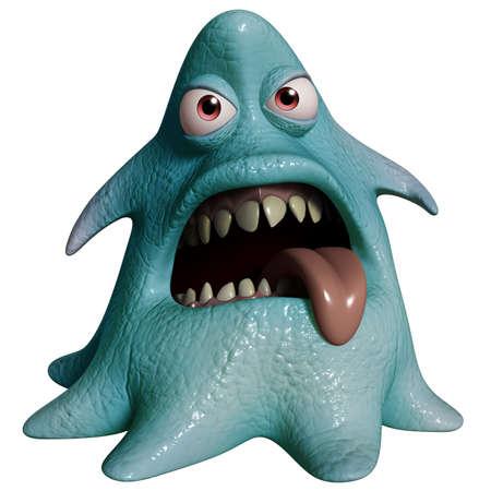 cartoon alien: 3d cartoon halloween monster