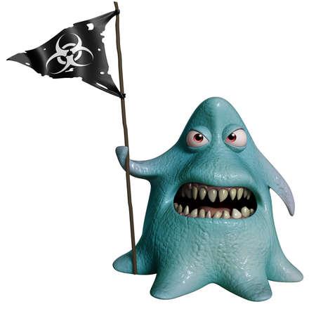 3d cartoon octopus monster photo