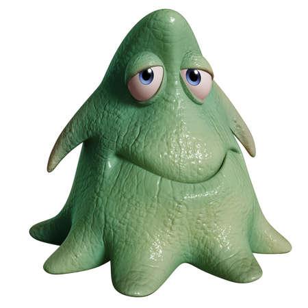 slime: 3d cartoon happy octopus monster Stock Photo