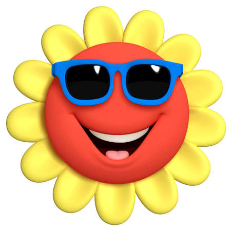 funny glasses: 3d cartoon cute flower