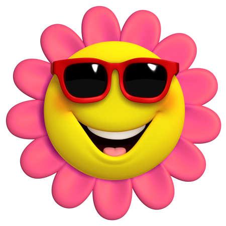 3d cartoon cute flower photo