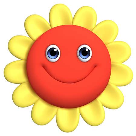 flower icon: 3d cartoon cute flower