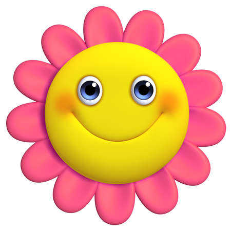 3d cartoon cute flower photo