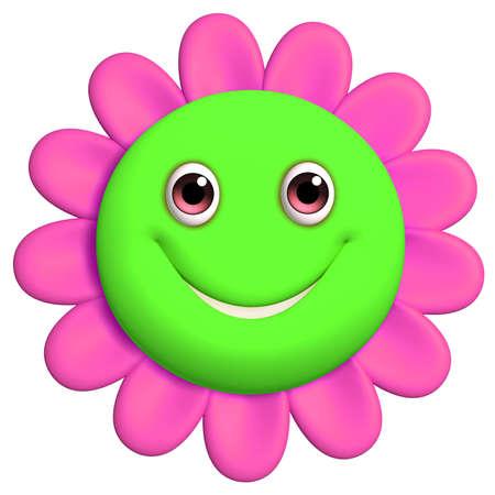 3d cartoon cute flower