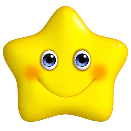 3d cartoon yellow star photo