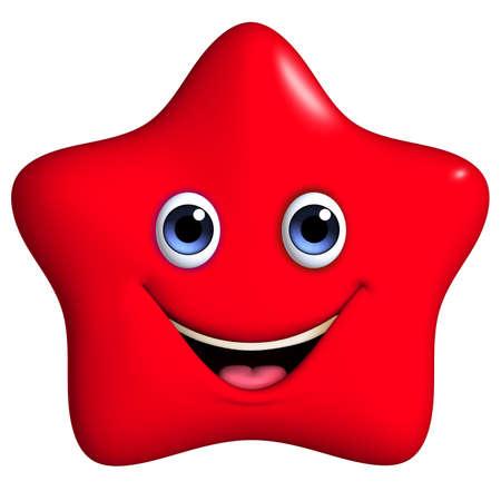 3d cartoon red star photo