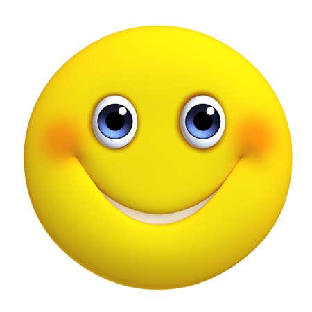 smile face: 3d cartoon cute yellow ball