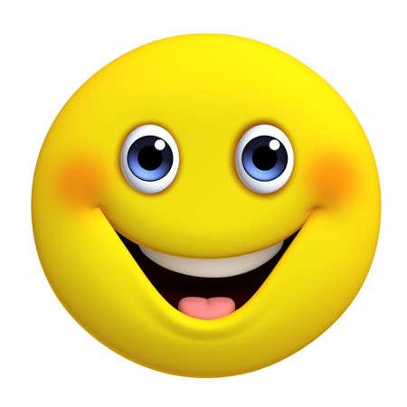 cara sonriente: Dibujos animados 3d amarillo lindo pelota