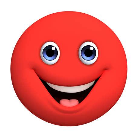 ojos caricatura: 3d dibujos animados lindo bola roja