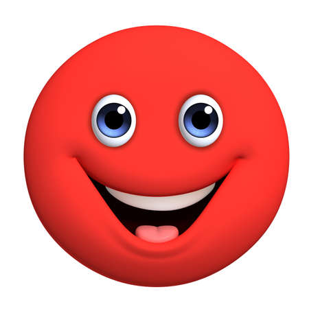 carita feliz caricatura: 3d dibujos animados lindo bola roja
