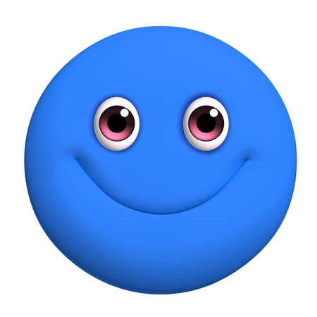 3d cartoon cute blue ball