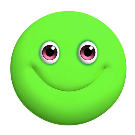 3d cartoon cute green ball photo