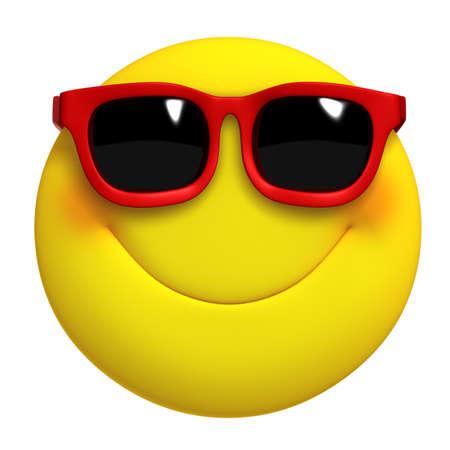 smiley faces: 3d cartoon cute yellow ball
