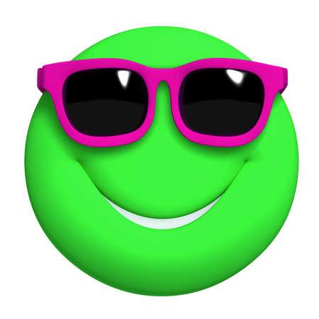eye ball: 3d cartoon cute green ball