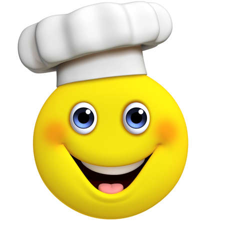 3d cartoon cute chef Stock Photo
